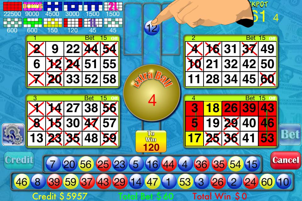 Screenshot Bingo Bonus Maniac Pro