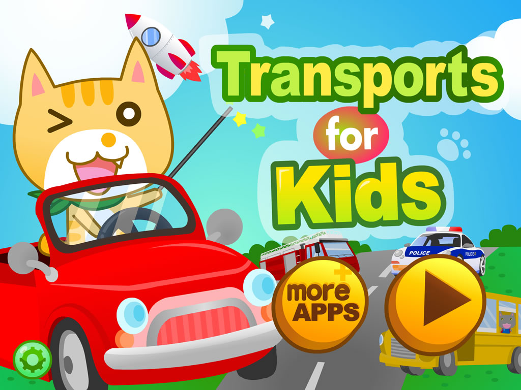 Transports for Kids HD  - 猫猫学交通工具 - 貓貓學交通工具